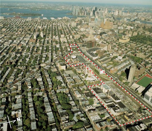 The Atlantic Yards site. (Courtesy SHoP)