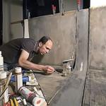 Frank Kunert puts finishing details on a model. (Courtesy Frank Kunert)