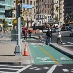 A new bike lane in Grand Army Plaza. (Branden Klayko)