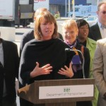 NYC DOT Commissioner Janette Sadik-Khan lauds Grand Army Plaza. (Branden Klayko)