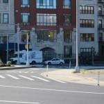 Sidewalk extensions ease crossing the street. (Branden Klayko)