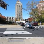 New pedestrian islands in Grand Army Plaza. (Branden Klayko)