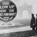 """Brooklyn's """"Death-o-Meter"""" installed in Grand Army Plaza in 1927."""