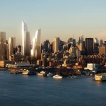The Hudson Yards office towers on the west-side skyline. (Courtesy KPF)