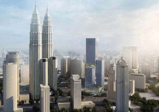 The Angkasa Raya tower proposed for Kuala Lumpur. (Courtesy Buro OS)