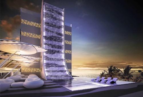 Mallorca marvel la architects wrap resort in futuristic for Design hotel mallorca
