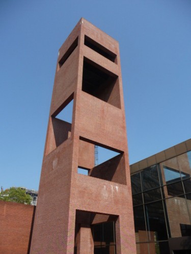 The tower designed by Cambridge Seven holds the Bicentennial Bell.