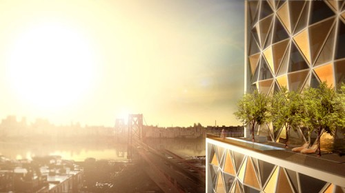 Chad Oppenheim's design for Williamsburghotel. (Courtesy Oppenheim)