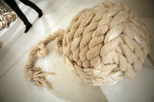 A huge ball of rope from Dana Farber.