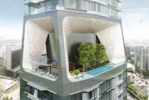UN Studio's Scotts Tower proposed for Singapore. (Courtesy UN Studio)