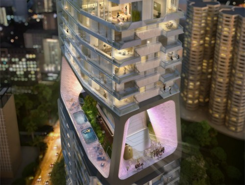 UN Studio's Scotts Tower proposed for Singapore. (Courtesy UN Studio)