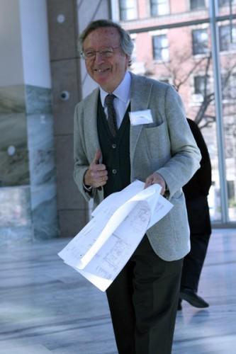 Rafael Moneo at Columbia's Northwest Corner building.