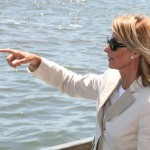 Planning Commissioner Amanda Burden at the East River Waterfront Esplanade.