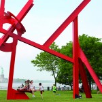 A sculpture by Mark di Suvero on Governors Island.