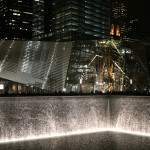 The waterfall at the 9/11 Memorial.