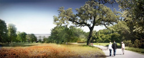 A rendering of Apple's proposed campus. (Courtesy Foster + Partners)
