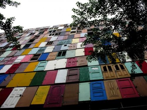 """South Korean artist Choi Jeong-Hwa's """"Doors"""" installation. (Courtesy Choi Jeong-Hwa)"""