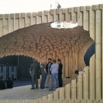 """David Adjaye's """"Genesis"""" pavilion. (AN / Julie Iovine)"""
