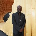 David Adjaye with his pavilion. (Courtesy Design Miami)