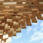 "Detail of David Adjaye's ""Genesis"" pavilion. (Courtesy Design Miami)"
