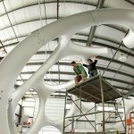 Assembly of the restored dome in Goetz's shop (Ian Garber)