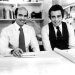 Early photograph of Charles Gwathmey and Robert Siegel. (Courtesy Gwathmey Siegel)