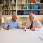Recent photograph of Charles Gwathmey and Robert Siegel. (Courtesy Gwathmey Siegel)
