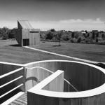 View of Gwathmey Studio from Residence roof, 1967. (Yukio Futagawa)