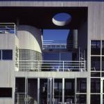 deMenil Residence, detail of south façade, 1983. (Norman McGrath)