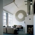 Zumikon Residence, living space, 1994. (Richard Bryant)