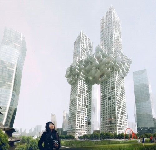 Rendering of the Cloud (Courtesy MVRDV)
