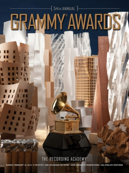 Frank Gehry's poster design for the Grammy Awards. (Courtesy Grammys)