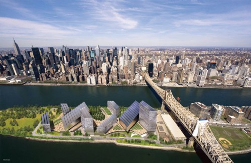 SOM's plan for Cornell's tech campus on Roosevelt Island.