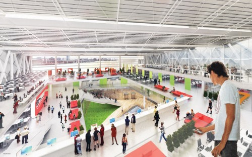 Inside the proposed Cornell campus.