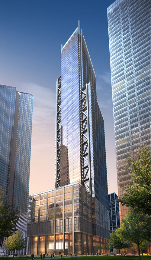 Richard Rogers' 3 World Trade Center. (Courtesy Silverstein Properties)