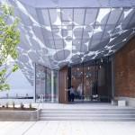 The adaptive reuse highlights Raleigh's red-brick vernacular (Brooks + Scarpa)