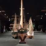 Ship replicas from museum's collection.