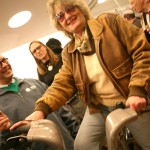 AIANY's Rick Bell and ArchNewsNow's Kristen Richards check out the new bikes.