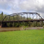 The bridge in its previous location spanning the Little Fork River (MN DOT)