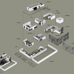 An axonometric diagram of the restaurant (Rojkind Arquitectos)