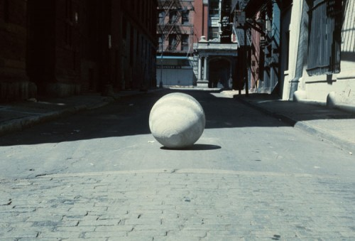 Concrete Ball, Abandoned, 1976. (Courtesy the Artist / Paul Kasmin Gallery)