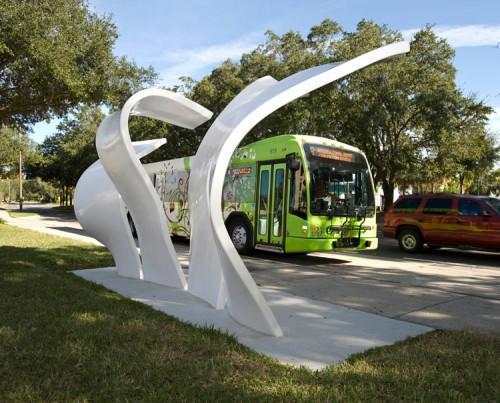 An artsy bus stop in Orlando. (Courtesy Entech Creative)