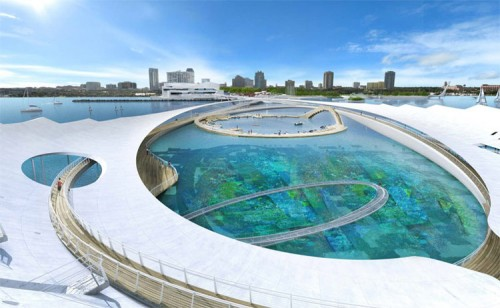 A detail of Michael Maltzan's pier proposal.
