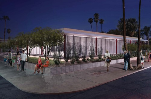Rendering of the future museum (Palm Springs Art Museum)