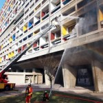 Corb's Unité d'Habitation Damaged By Fire