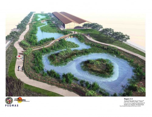 PDR rendering of the South Los Angeles Wetland Park (courtesy of LADPW)
