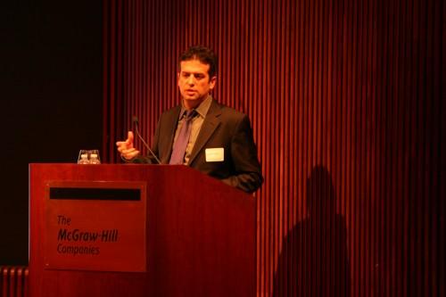 SHoP's Jonathan Mallie breezes through a well practiced presentation.
