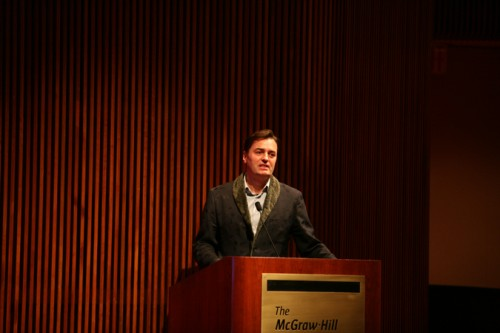 Shumacher at the podium.