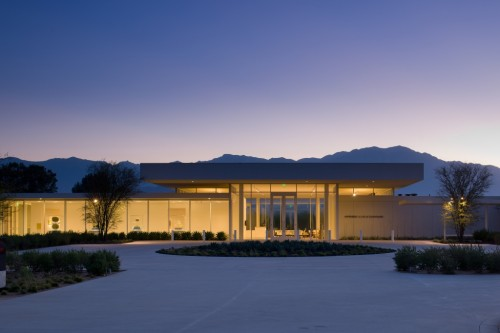 The Sunnylands visitors center in Palm Springs designed by Frederick Fisher.