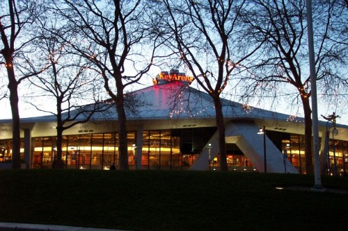 Seattle's Key Arena, former home of the Seattle SuperSonics (via Flickr by jscatty).